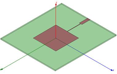 microstrip patch antenna hfss